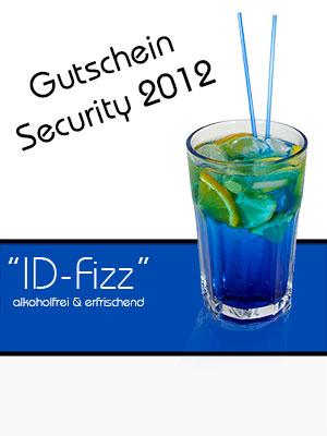 ID-Fizz - unsere Erfrischung am Security Messestand