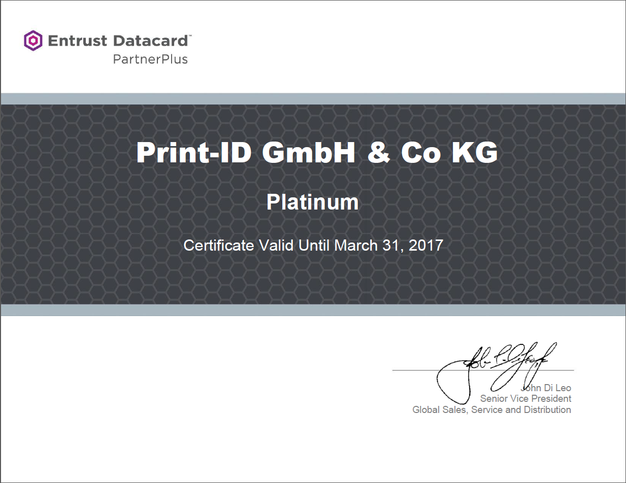 Datacard Zertifikat