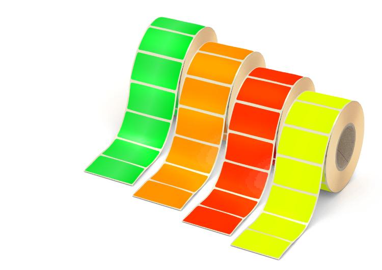 Etiketten in Leuchtfarben