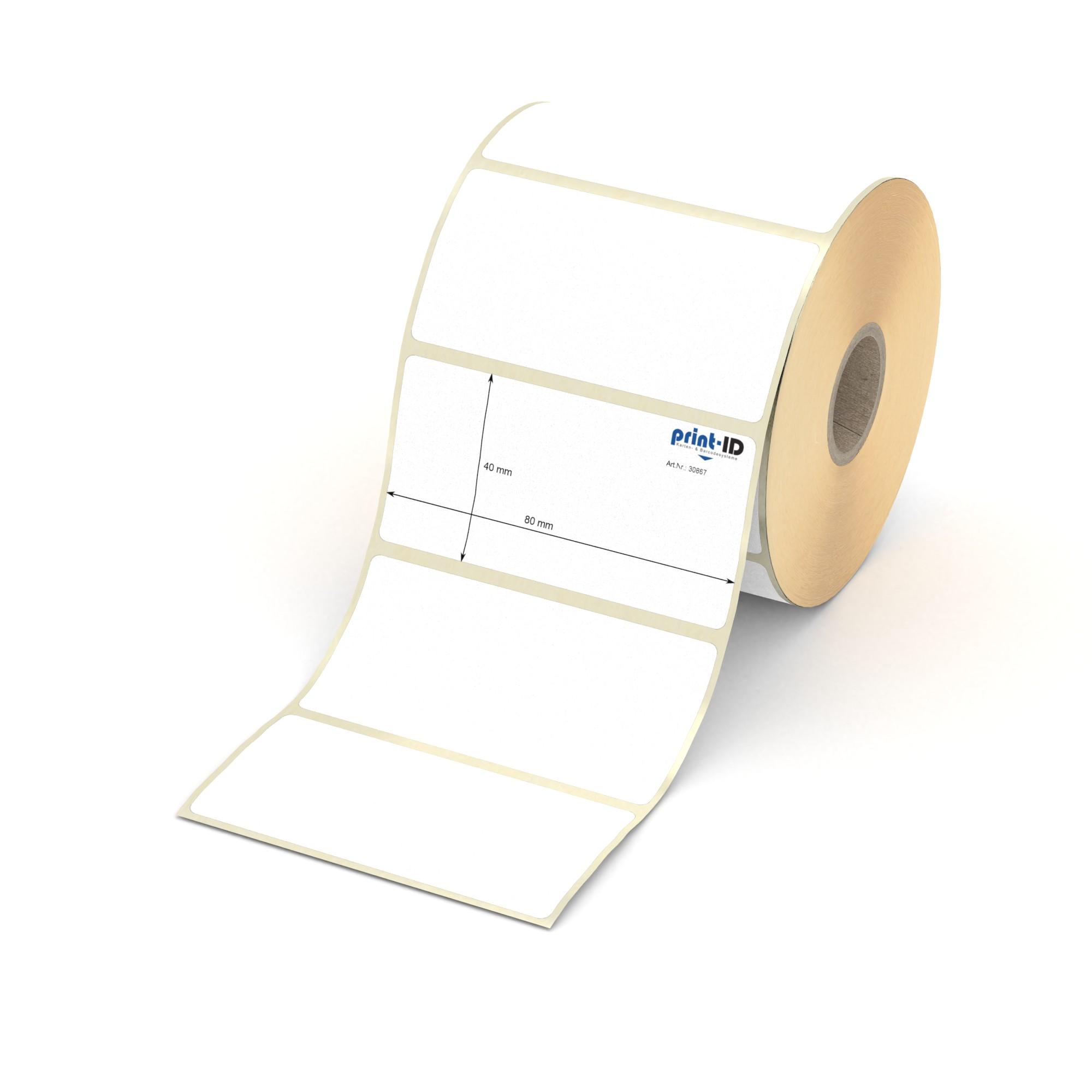 72 Klebe Etiketten 58 mm x 48 mm 4 Bogen