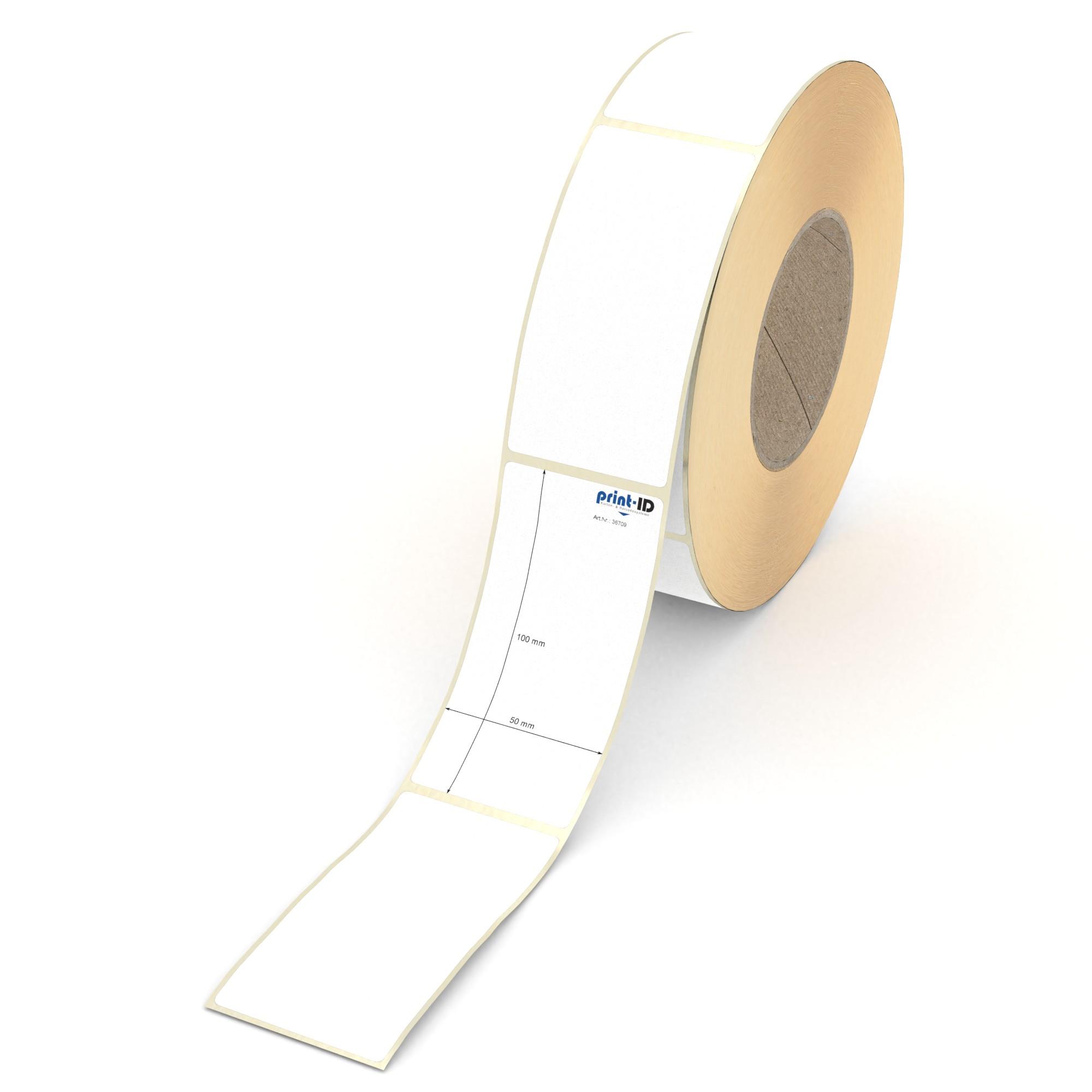 Etikett 100 x 50 mm 1.000 Etiketten pro Rolle Thermopapier weiß permanent