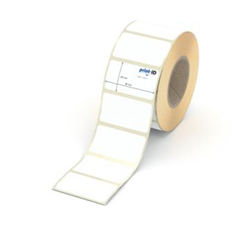 Etikett 45 x 25 mm - Thermopapier weiß permanent - 1000 Etiketten je Rolle - 40 mm Hülse  preis-günstig kaufen