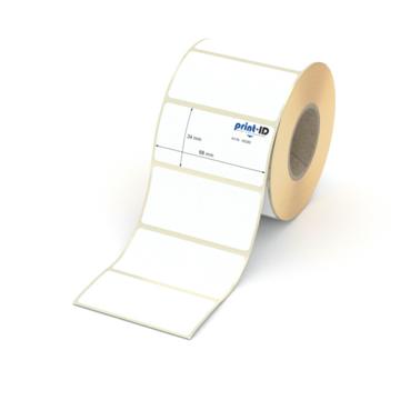 Etikett 68 x 34 mm - Thermopapier weiß permanent - 900 Etiketten je Rolle - 40 mm Hülse  preis-günstig kaufen