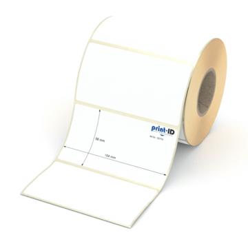 Etikett 104 x 56 mm - Thermopapier weiß permanent - 700 Etiketten je Rolle - 40 mm Hülse  preis-günstig kaufen