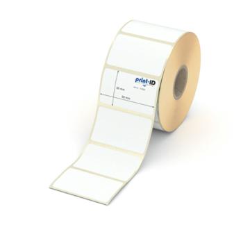 Etikett 50 x 30 mm - Transferpapier weiß permanent - 1100 Etiketten je Rolle - 25 mm Hülse  preis-günstig kaufen