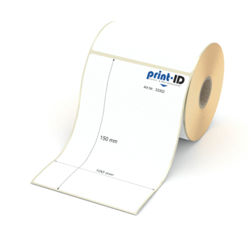 Etikett 100 x 150 mm - Thermopapier weiß permanent - 250 Etiketten je Rolle - 25 mm Hülse  preis-günstig kaufen