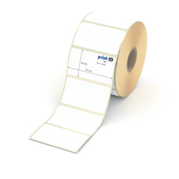 Etikett 57 x 32 mm - Thermopapier weiß permanent - 1100 Etiketten je Rolle - 25 mm Hülse  preis-günstig kaufen