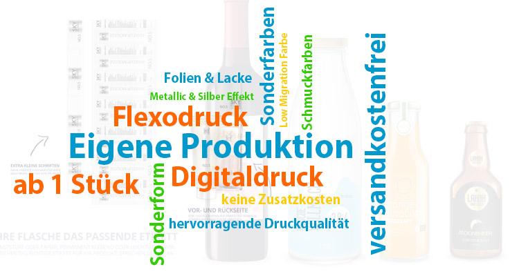 bedruckte Etiketten bei ident24.de - Ihre Vorteile