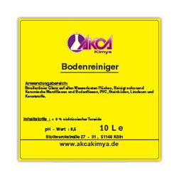 Bedruckte Etiketten zur Kennzeichnung von Inhaltsstoffen chemischer Produkte