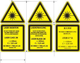 Bedruckte Etiketten als abgerundetes Dreieck