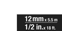 Breite 12 mm