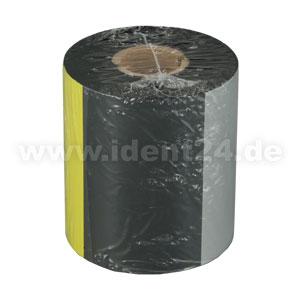 Farbband Wachs+, 80mm x 450m, schwarz - Inkside out