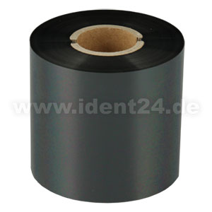 Farbband Wachs+, 60mm x 300m, schwarz - Inkside out