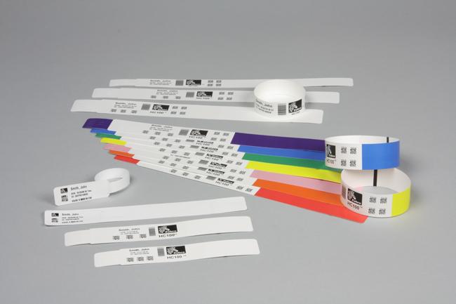 HC100-Armband Comfort, mit Klebeverschluss, Größe 25 x 152 mm, weiß
