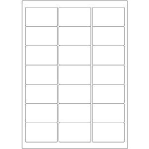 Etiketten auf DIN-A4 Bogen, 63,5 x 38,1 mm, für Laser-Drucker und Inkjet