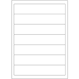 Etiketten auf DIN-A4 Bogen, 192 x 38 mm, für Laser-Drucker und Inkjet