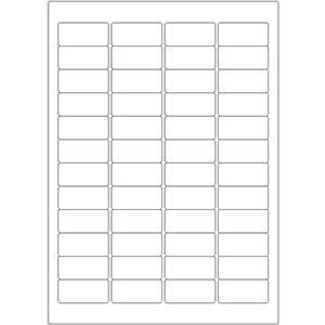 Etiketten auf DIN-A4 Bogen, 45,72 x 21,16 mm, für Laser-Drucker und Inkjet