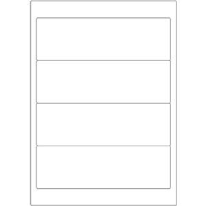 Etiketten auf DIN-A4 Bogen, 192 x 61 mm, für Laser-Drucker und Inkjet