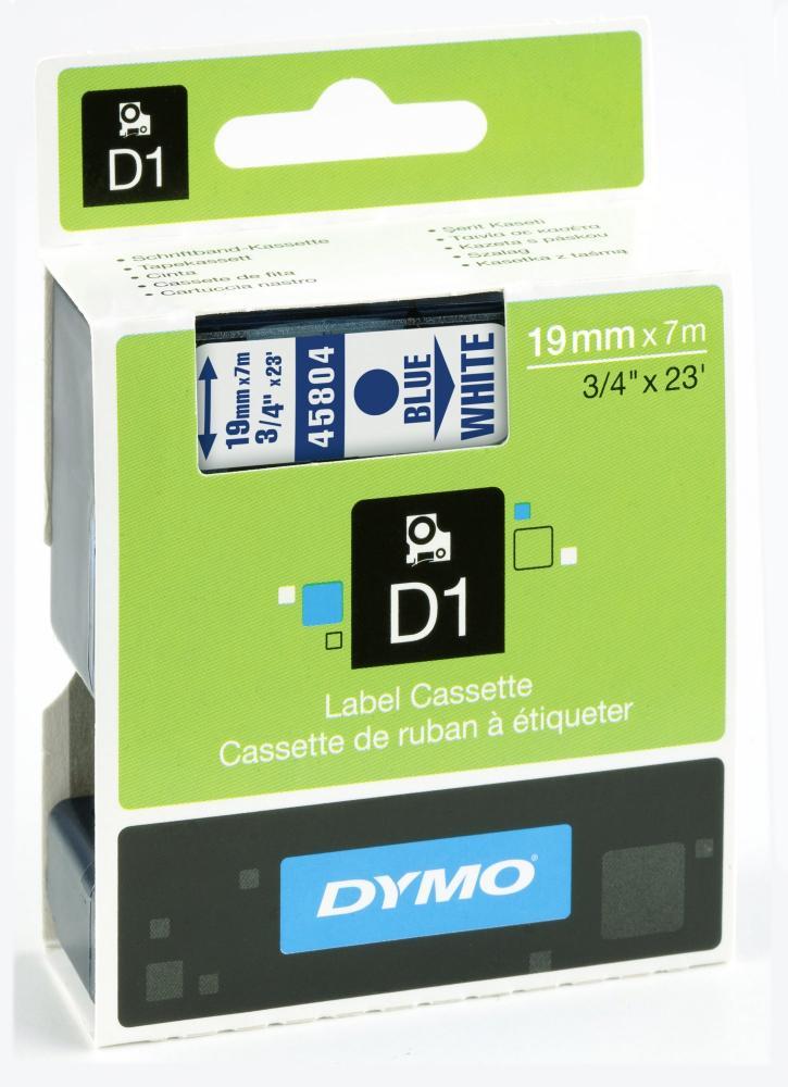 DYMO 45804 D1-Schriftband 19 mm blau auf weiß, S0720840