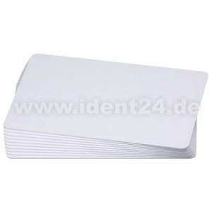 Plastikkarten 0,76 mm, blanko weiß