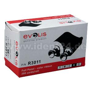 Evolis 5-Zonen Farbband YMCKO - 200 Images / Rolle