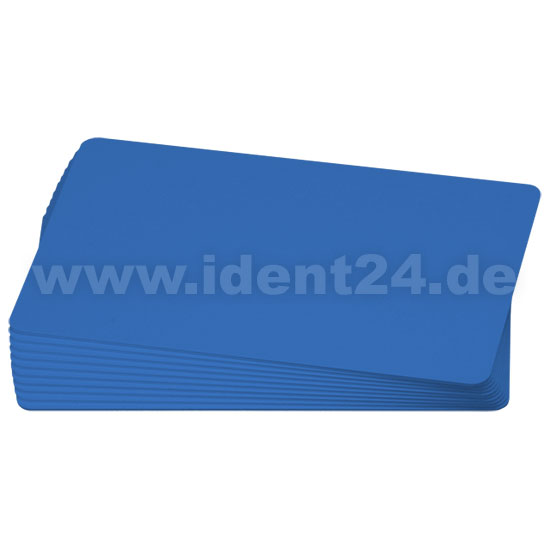 Plastikkarten, blau
