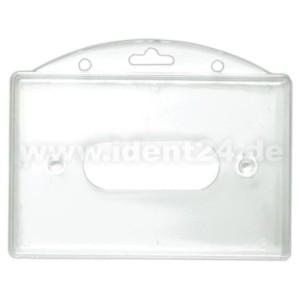 Einschubkartenhalter horizontal, transparent