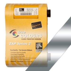 Zebra Farbband silber für ZXP3