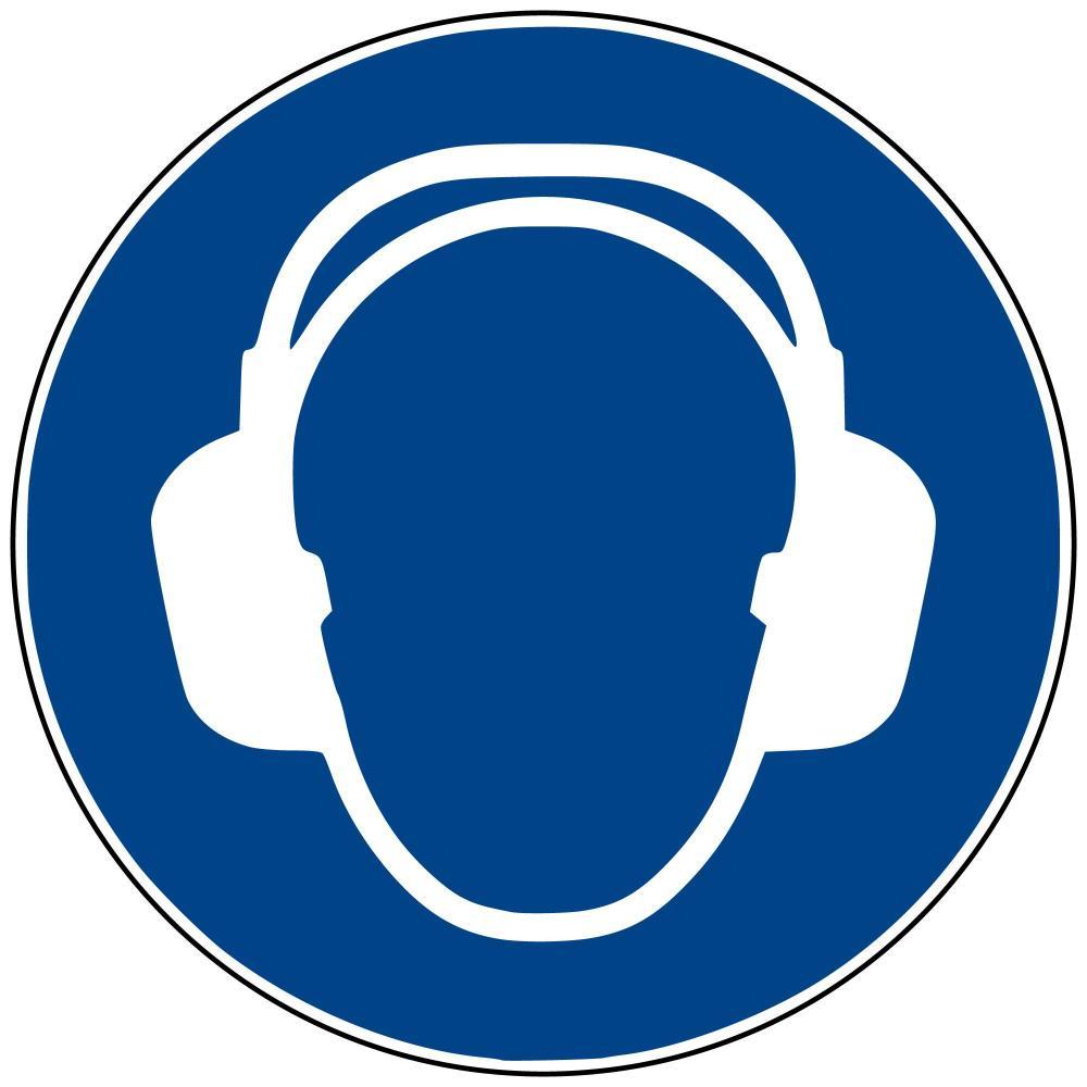M03 - Gehörschutz benutzen - selbstklebend