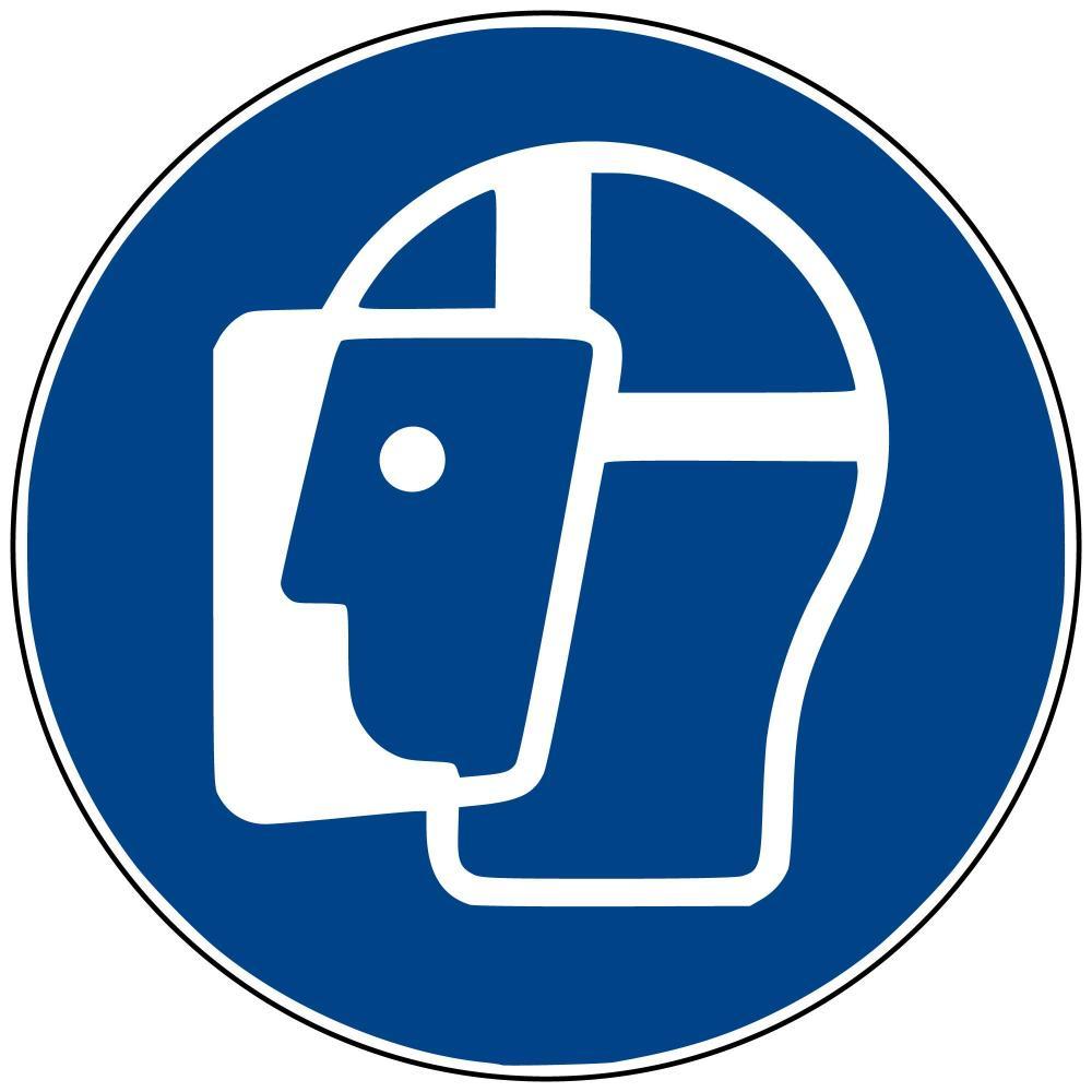 M13 - Gesichtschutz benutzen - selbstklebend