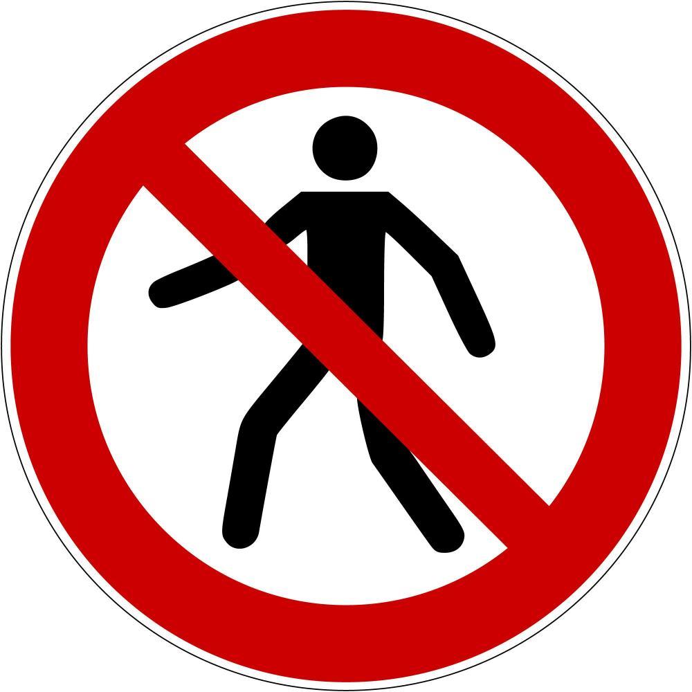 P004 - Für Fußgänger verboten - selbstklebend