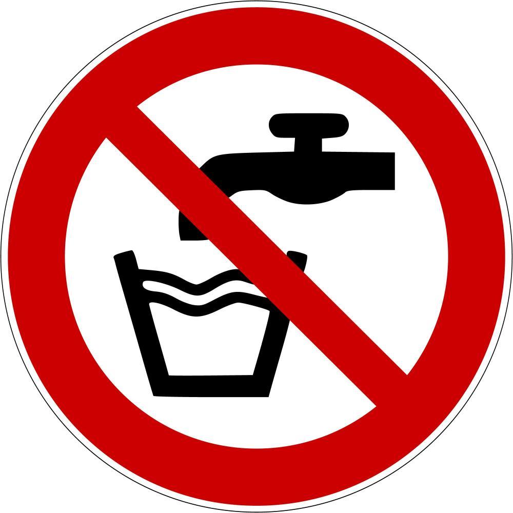 P005 - Kein Trinkwasser - selbstklebend