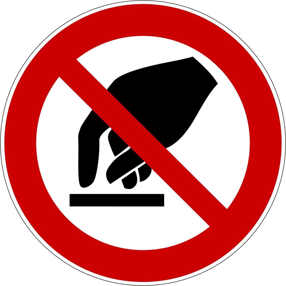 P010 - Berühren verboten - selbstklebend