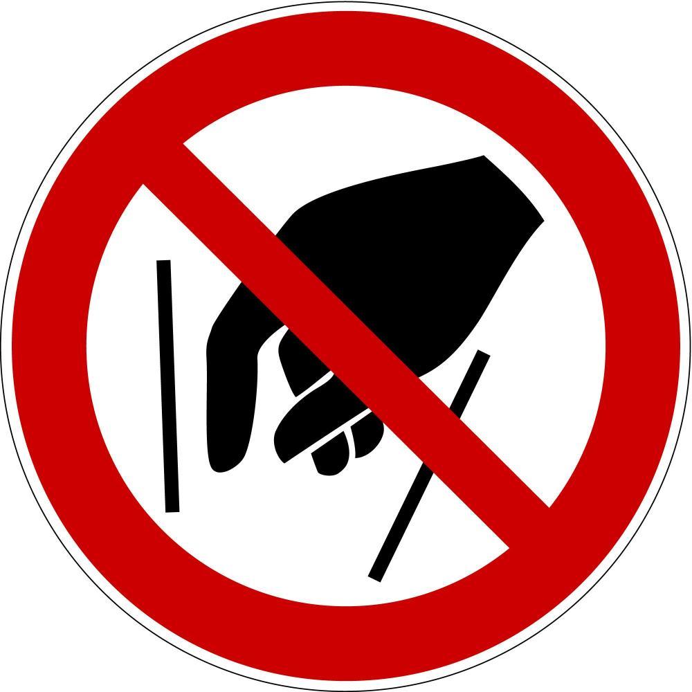 P015 - Hineinfassen verboten - selbstklebend
