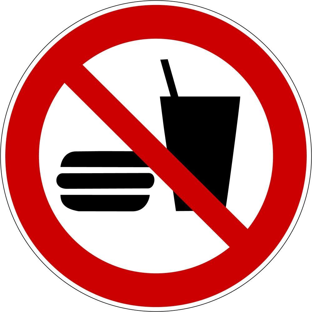 P022 - Essen und Trinken verboten - selbstklebend