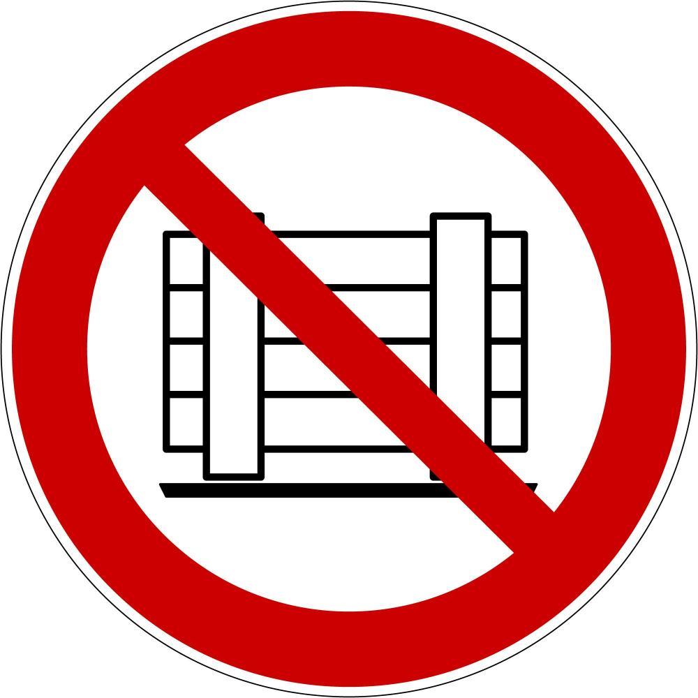 P023 - Abstellen oder Lagern verboten - selbstklebend