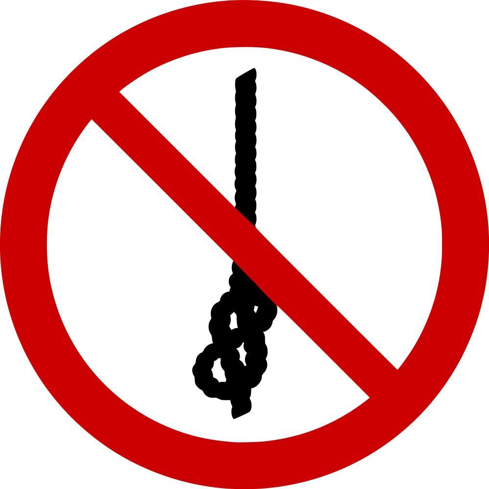 P030 - Knoten von Seilen verboten - selbstklebend