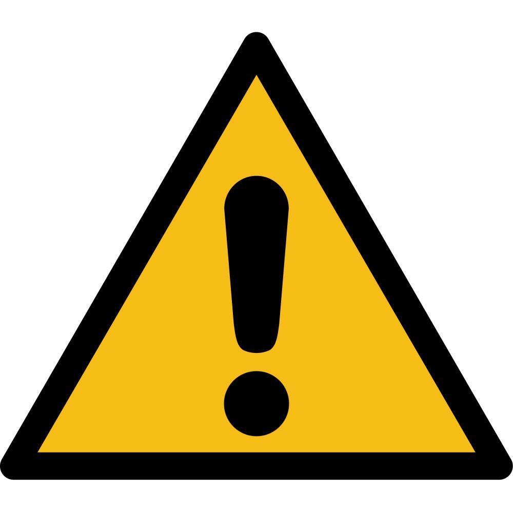 W001 - Warnung vor einer Gefahrenstelle - selbstklebend