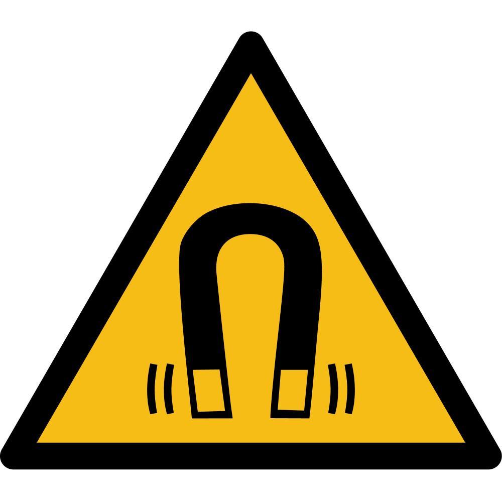 W006 - Warnung vor magnetischem Feld - selbstklebend