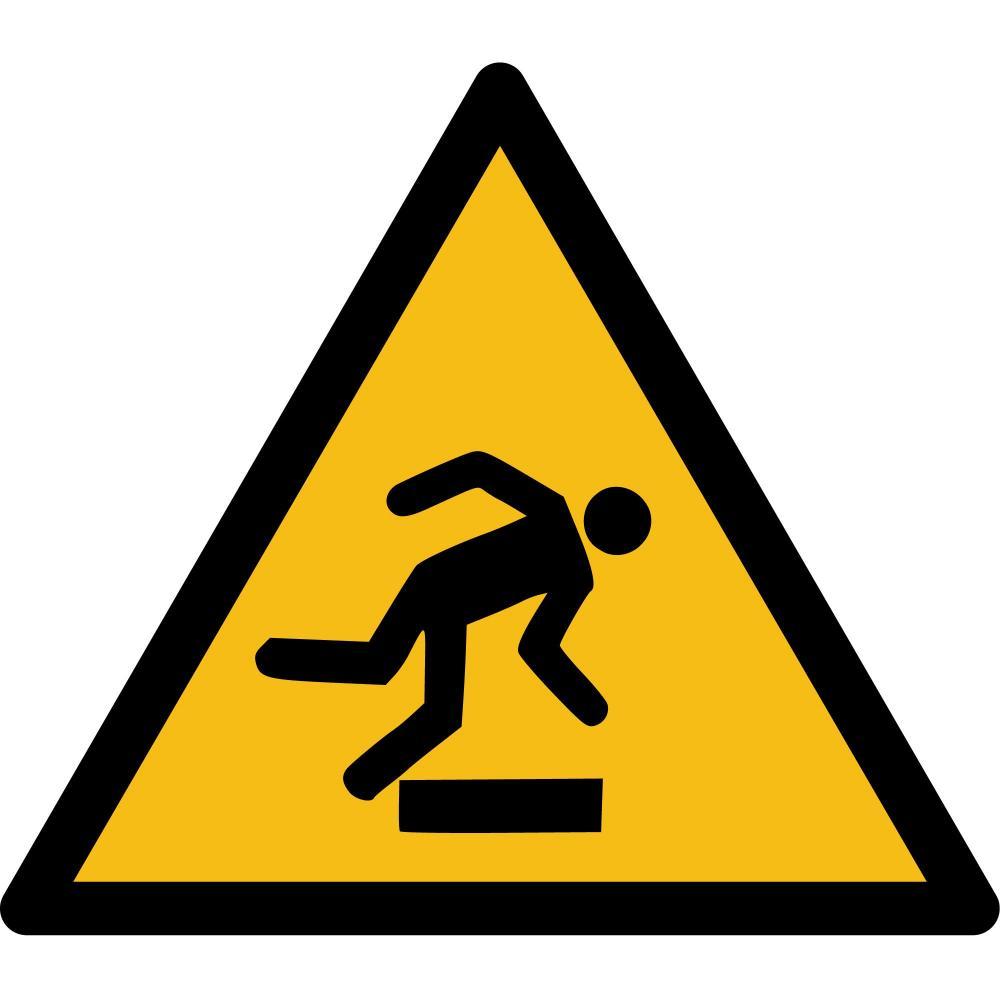 W007 - Warnung vor Hindernissen am Boden - selbstklebend