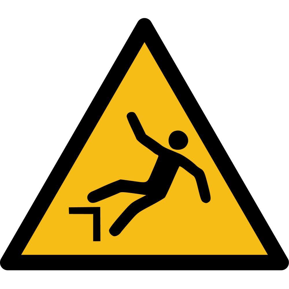 W008 - Warnung vor Absturzgefahr - selbstklebend