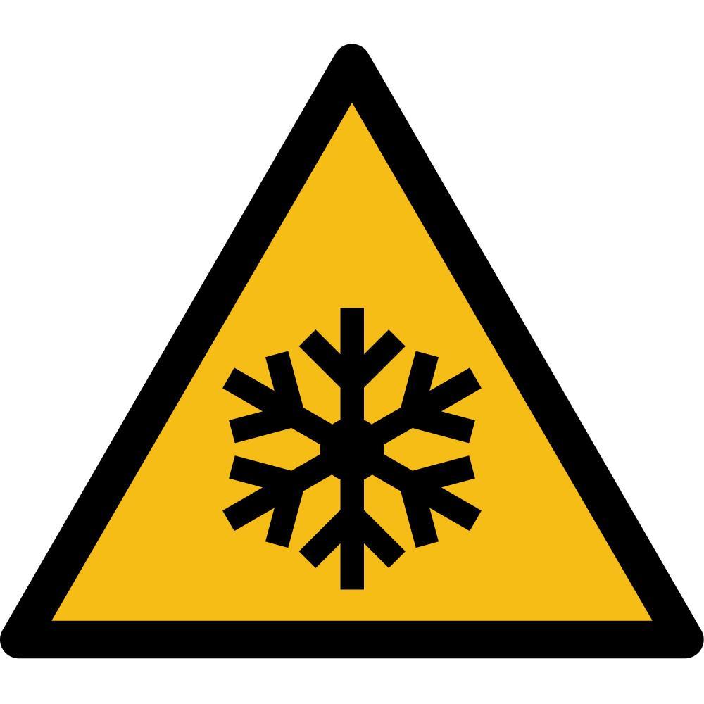 W010 - Warnung vor niedriger Temperatur - selbstklebend