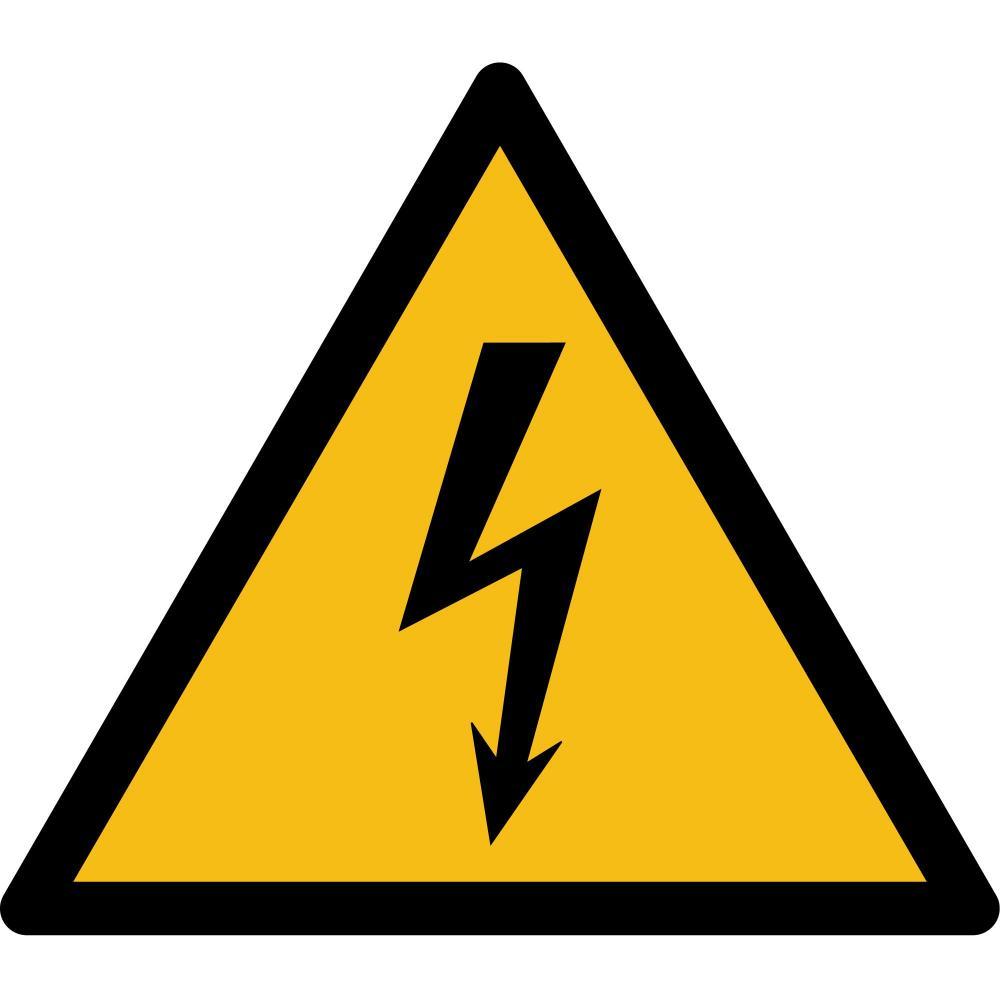 W012 - Warnung vor elektrischer Spannung - selbstklebend