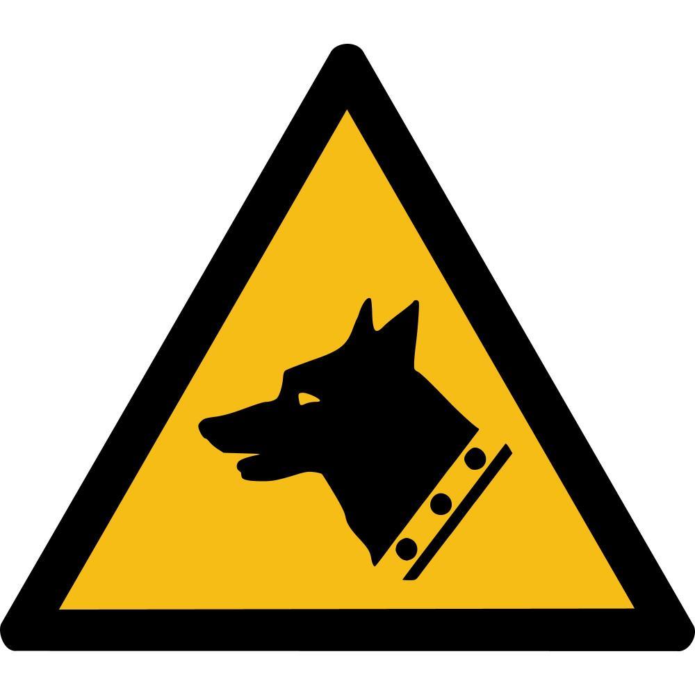 W013 - Warnung vor Wachhunden - selbstklebend