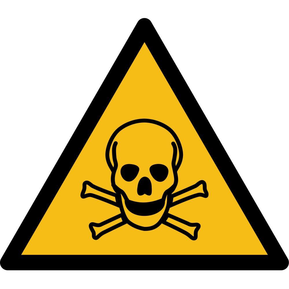 W016 - Warnung vor giftigen Stoffen - selbstklebend