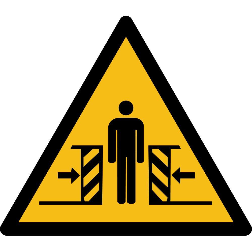 W019 - Warnung vor Quetschgefahr - selbstklebend