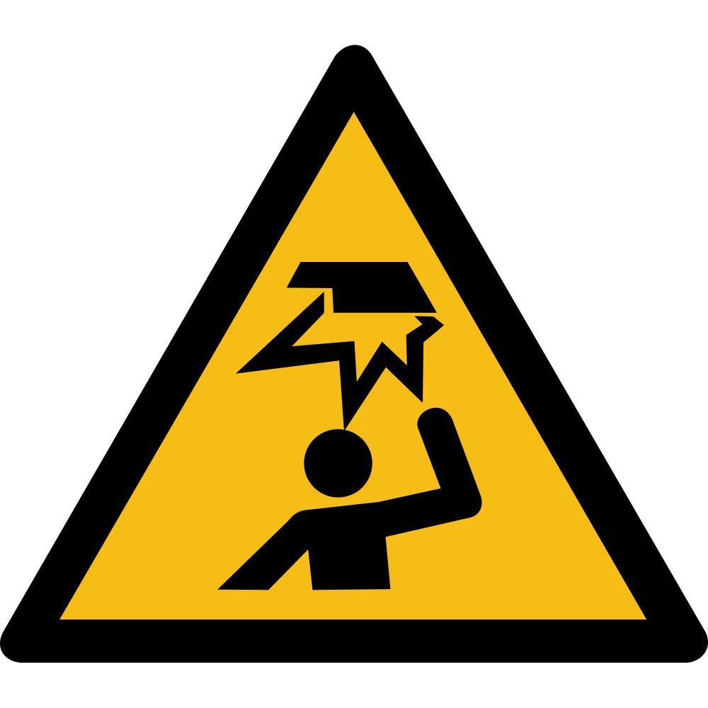 W020 - Warnung vor Hindernissen im Kopfbereich - selbstklebend