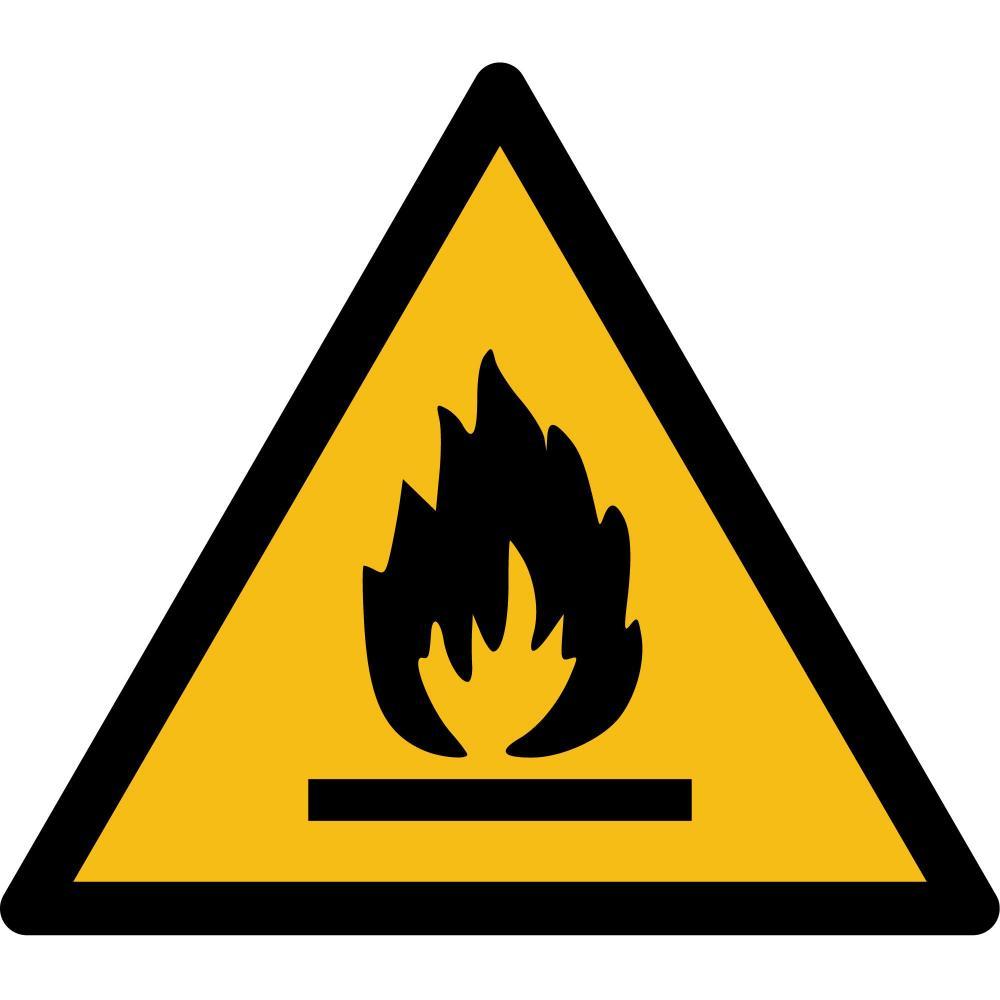 W021 - Warnung vor feuergefährlichen Stoffen - selbstklebend