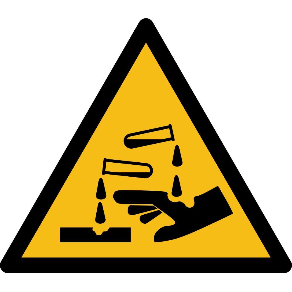 W023 - Warnung vor ätzenden Stoffen - selbstklebend