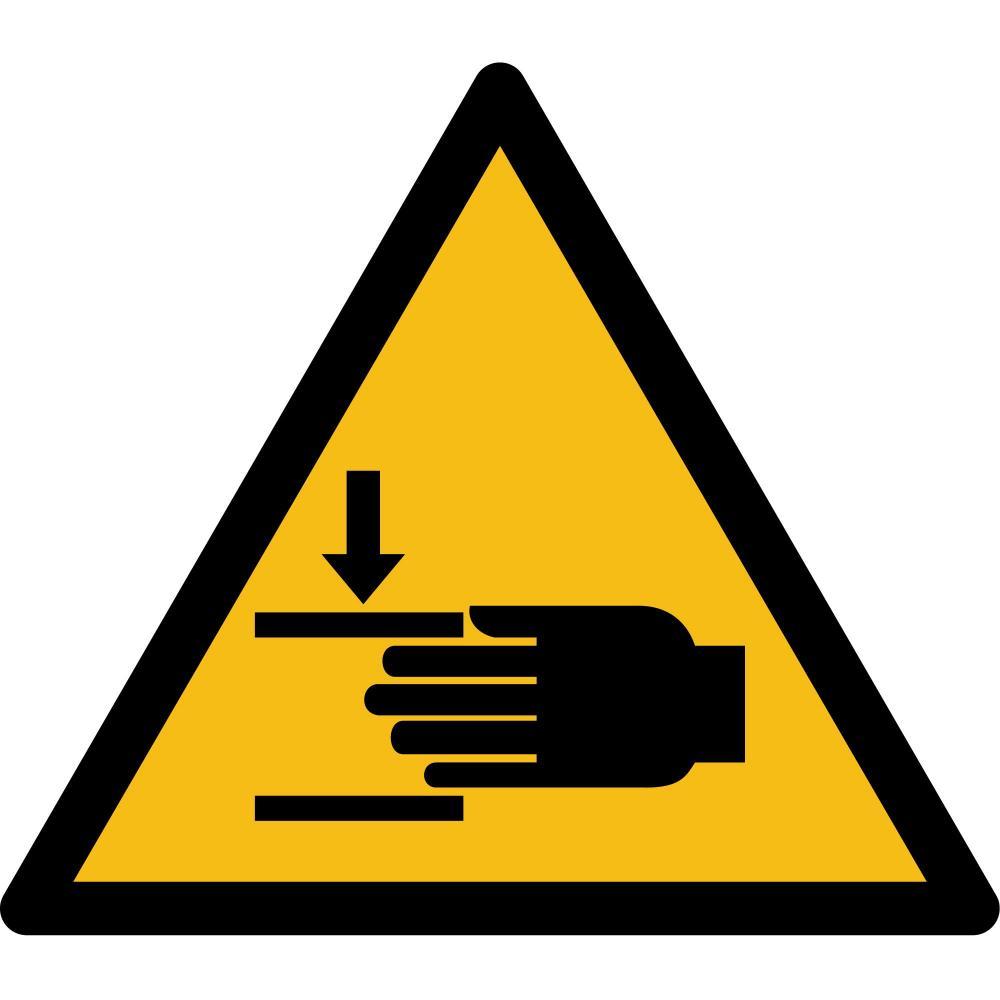 W024 - Warnung vor Handverletzungen - selbstklebend